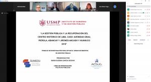 SUSTENTACIÓN DE TRABAJO DE INVESTIGACIÓN, GRADO MAESTRO EN GESTIÓN PUBLICA ALUMNA: MARIA EUGENIA GARCIA SEGOVIA  24/07/2020